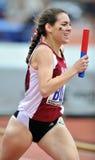 2012 Leichtathletik - Mitfahrerseitentrieb Lizenzfreie Stockbilder