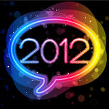 2012 Lights Speech Bubble Stock Image