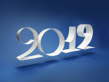 2012 logo. Text with paper 2012, new year Stock Photography