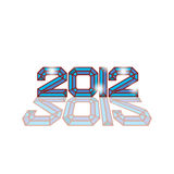 2012 logo. 2012 Abstract diamond logo illustration Royalty Free Stock Photo