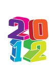 2012 logo. With coloring 3d text Stock Photo