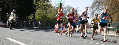 2012, London Marathon runner Stock Photography