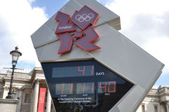 2012 London Olympics Countdown Clock. 2012 Olympics Countdown Clock in Trafalgar Square on June 15, 2012 in London, England Royalty Free Stock Photos