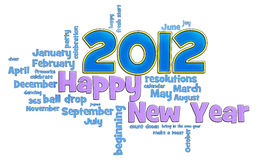 2012 lyckliga nya år Royaltyfri Illustrationer