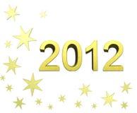2012 lyckliga wish dig Royaltyfri Bild