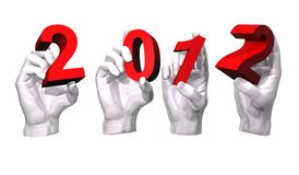 2012 mãos Fotos de Stock