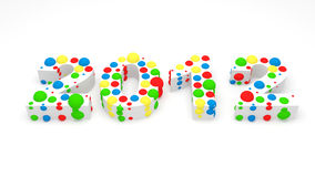 2012 made from colorful spheres Stock Photos