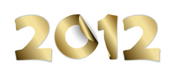 2012 made from golden stickers. Card for a New Year vector illustration