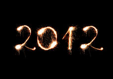 2012 made of sparkles Stock Images