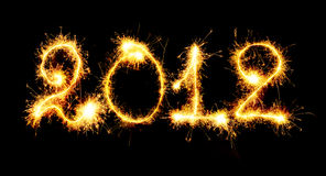 2012 made of sparks Royalty Free Stock Photography