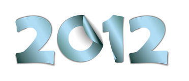 2012 made from vector blue stickers Royalty Free Stock Images