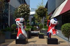 2012 mascotas de las Olimpiadas Fotos de archivo libres de regalías