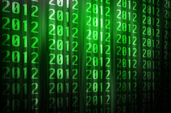 2012 matrix background Royalty Free Stock Photography