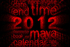 2012 (maya calendar theme). 2012 (maya calendar theme word cloud vector illustration