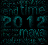 2012 (maya calendar theme). 2012 (maya calendar theme word cloud royalty free illustration