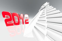 2012 Maya Prediction Concept 3D render. Prediction Stock Image