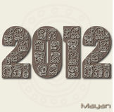 2012 Mayan. Image of the mayan months in the year 2012 Stock Illustration