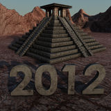 2012 mayan pyramid. Picture of a mayan pyramid in a desolate landscape Stock Image