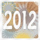2012 with metallic background Stock Photo