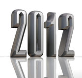 2012 metallic new year Stock Photography