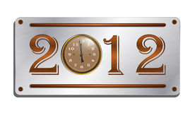 2012 on the metallic plate Stock Image