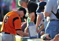 2012 Minder belangrijke autographs van het Honkbal van de Liga pregame Royalty-vrije Stock Foto's