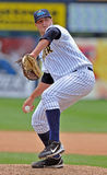 2012 Minor League Baseball Action. TRENTON, NJ - JUNE 4: Trenton Thunder pitcher Ryan Flannery delivers a pitch during the eastern league baseball game against Royalty Free Stock Image