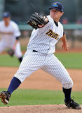 2012 Minor League Baseball Action. TRENTON, NJ - JUNE 4: Trenton Thunder pitcher Shaeffer Hall throws a pitch during the eastern league baseball game against New Stock Photography