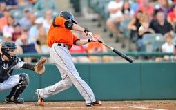 2012 Minor League Baseball batter swing Royalty Free Stock Photos