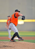 2012 Minor league baseball - Bowie Baysox pitcher Royalty Free Stock Photo