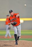 2012 Minor league baseball - Bowie Baysox pitcher Royalty Free Stock Images