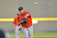 2012 Minor League Baseball pitcher Royalty Free Stock Photos