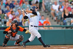 2012 Minor league baseball - Trenton batter Royalty Free Stock Photography