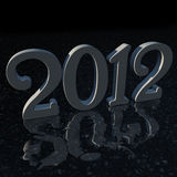 2012 Mirror Floor. A typography of 2012 is reflected by the floor royalty free illustration