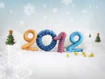 2012 na neve Imagens de Stock Royalty Free