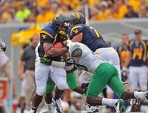 2012 NCAA橄榄球- WVU与马歇尔 图库摄影