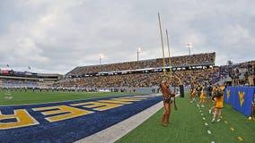 2012 NCAA橄榄球- WVU与TCU 库存图片
