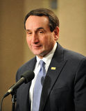 2012 NCAA Basketball - Duke's Coach K Stock Images