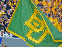 2012 NCAA橄榄球- Baylor @ WVU 库存照片