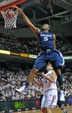 2012 NCAA Bsketball -  Xavier slam dunk Stock Image