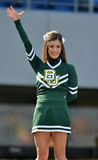 2012 NCAA football - Baylor @ WVU. MORGANTOWN, WV - SEPTEMBER 29: A Baylor University cheerleader performs prior to the start of a Big 12 conference football Stock Photos