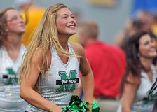 2012 NCAA-Fußball - WVU gegen Marshall Lizenzfreie Stockbilder