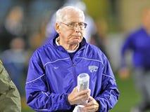 2012 NCAA voetbal - de Staat van K - WVU Stock Foto