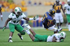 2012 NCAA Voetbal - WVU versus Marshall Stock Foto's