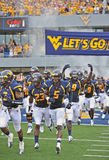 2012 NCAA Voetbal - WVU versus Marshall Royalty-vrije Stock Afbeelding