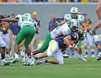 2012 NCAA Voetbal - WVU versus Marshall Royalty-vrije Stock Foto's