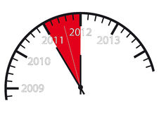 2012 is near!. Part of a clock with the change from 2011 to 2012 Royalty Free Stock Photos