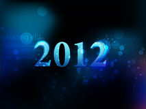 2012 neon figures on a dark background. Christmas Royalty Free Stock Photo
