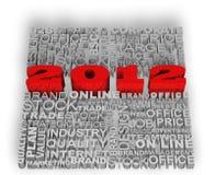 2012 neues Jahr Lizenzfreie Stockfotos