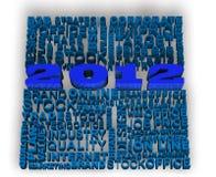 2012 neues Jahr mit den Geschäftswörtern in Verbindung gestanden Lizenzfreies Stockbild